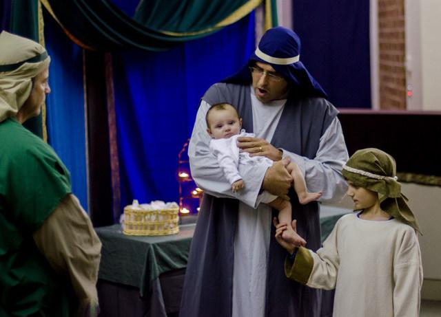 Simeon blesses Jesus