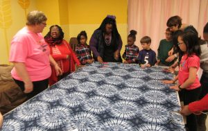 Day of Service 2017 Making No Sew Blankets