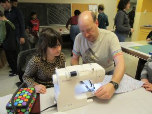 Day of Service 2017 Sewing Pillowcases