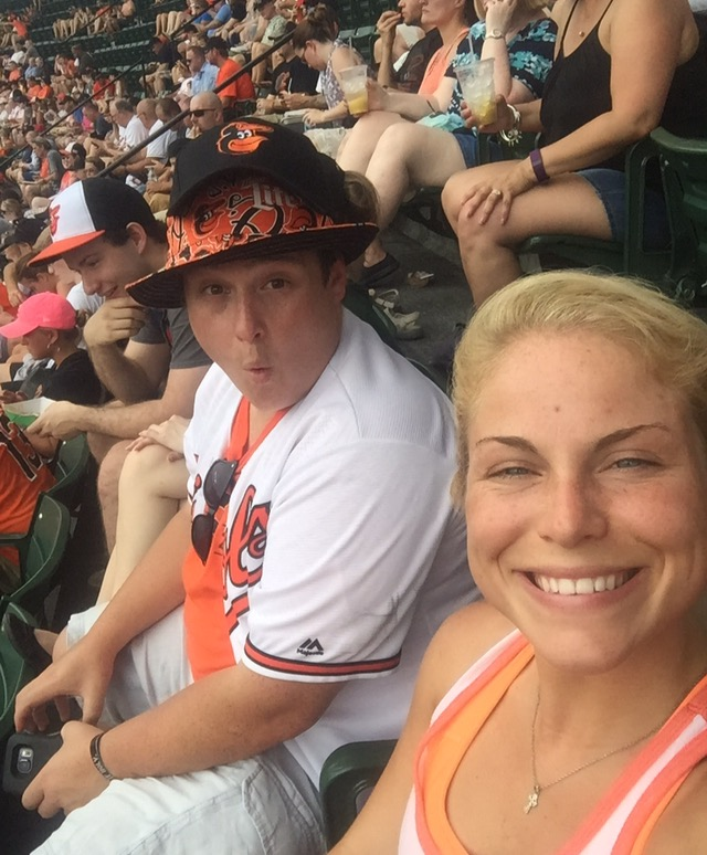 Post-College Small Group at Orioles game