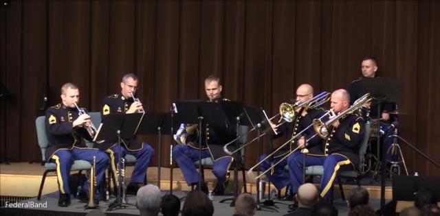 Trumpeting brass music