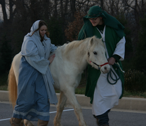 Mary and Joseph on Donkey